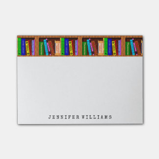 Library Books English Teacher Writer Personalised Post-it® Notes