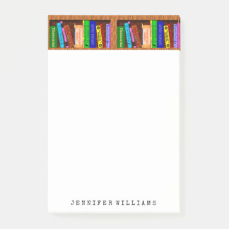 Library Books English Teacher Writer Personalised Post-it Notes