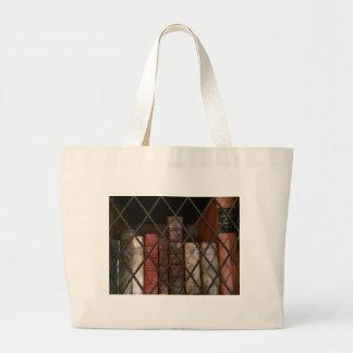 Library bookshelf large tote bag
