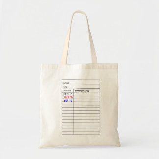 """""""Library Card"""" Tote Bag"""