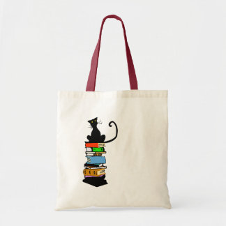 Library Cat Budget Tote Bag
