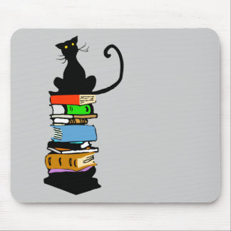 Library Cat Mouse Pad