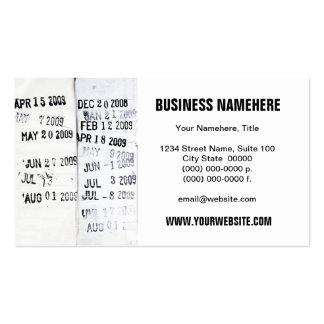 Library Date Stamps Business Cards