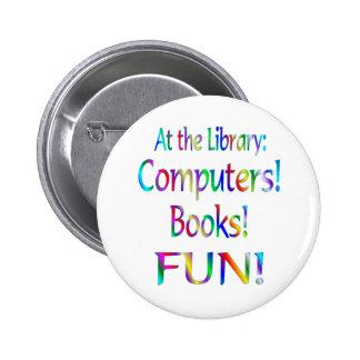 Library Fun 6 Cm Round Badge