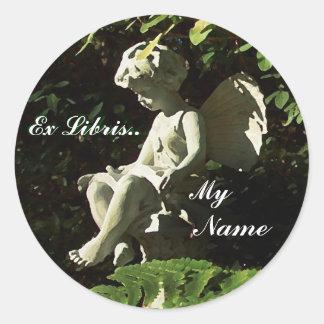 """Library Garden Sprite """"Ex Libris"""" Sticker"""