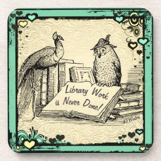 Library Gift. Librarian Assistant Gift. Coaster