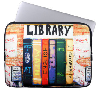Library Graffiti Sleeve Laptop Computer Sleeve