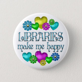 Library Happiness 6 Cm Round Badge