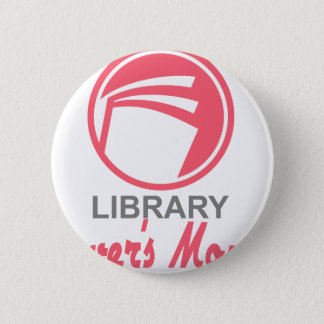Library Lovers' Month - Appreciation Day 6 Cm Round Badge