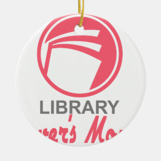 Library Lovers' Month - Appreciation Day Ceramic Ornament