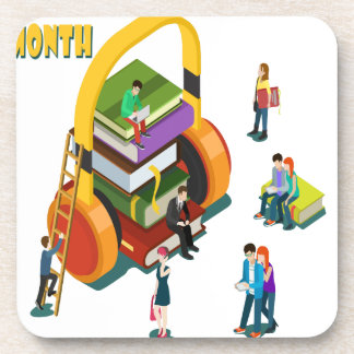 Library Lovers' Month - Appreciation Day Coaster