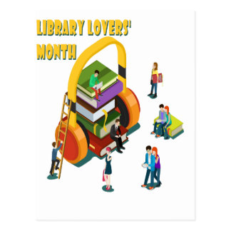 Library Lovers' Month - Appreciation Day Postcard