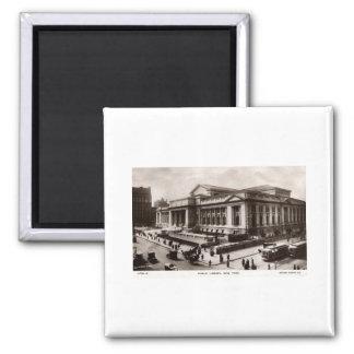 Library, New York City c1910 Vintage Fridge Magnet