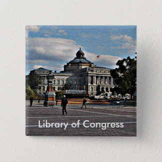 Library of Congress in Mosaic Pattern 15 Cm Square Badge