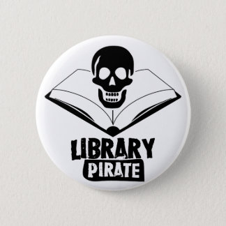 Library Pirate 6 Cm Round Badge