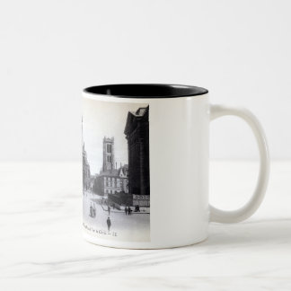 Library Saint-Genevieve, Paris France 1905 Vintage Two-Tone Coffee Mug