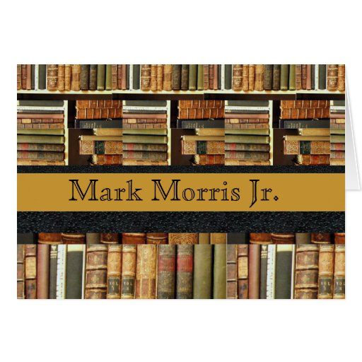 Library Scene Personalized Notecards Greeting Card