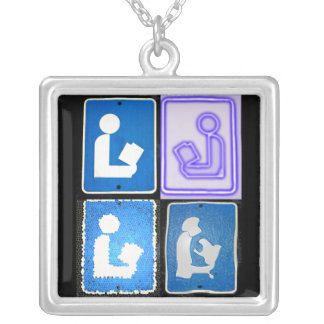 Library Sign Pendants