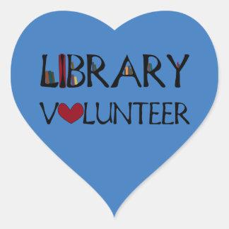 Library Volunteer - Choose Colour Heart Sticker