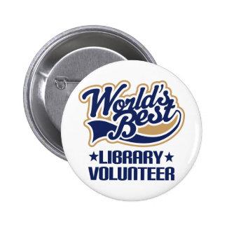 Library Volunteer Gift 6 Cm Round Badge