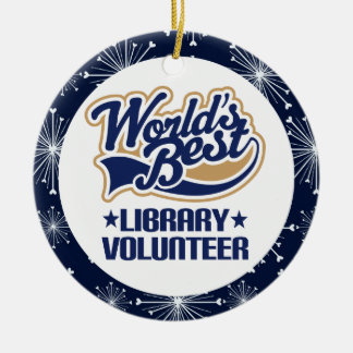 Library Volunteer Gift Ornament