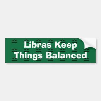 Libras Keep Things Balanced Bumper Sticker