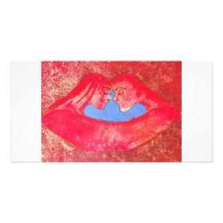 libs & kiss photocard photo greeting card