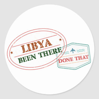 Libya Been There Done That Classic Round Sticker