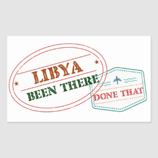 Libya Been There Done That Rectangular Sticker