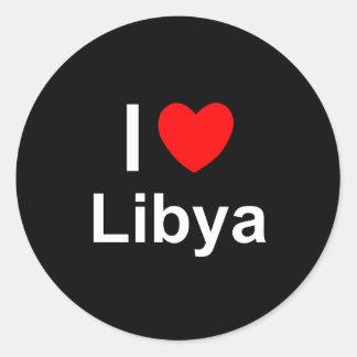 Libya Classic Round Sticker