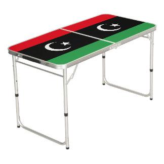 Libya Flag Beer Pong Table