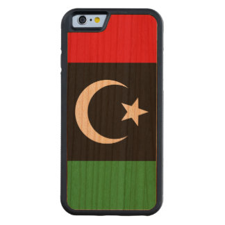 Libya Flag Carved Cherry iPhone 6 Bumper Case