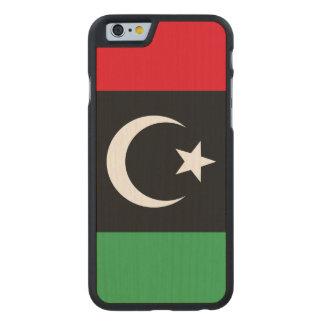 Libya Flag Carved® Maple iPhone 6 Slim Case
