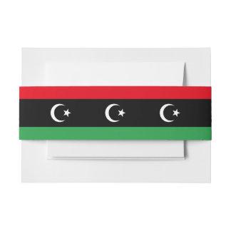 Libya Flag Invitation Belly Band