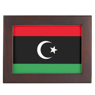 Libya Flag Keepsake Box