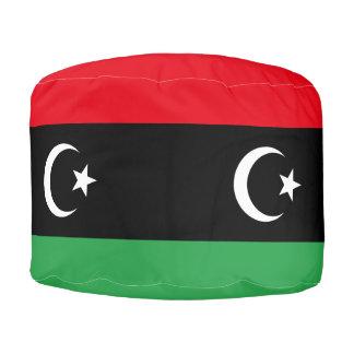 Libya Flag Pouf