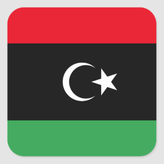 Libya Flag Square Sticker