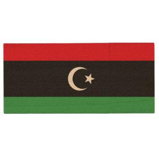 Libya Flag Wood USB 3.0 Flash Drive