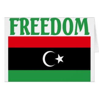 Libya Freedom Flag Cards