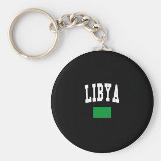 LIBYA BASIC ROUND BUTTON KEY RING