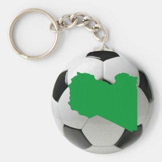 Libya national team basic round button key ring