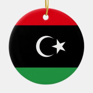 Libya National World Flag Ceramic Ornament