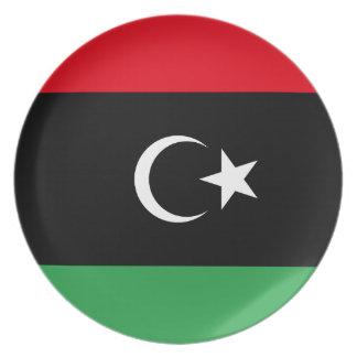 Libya National World Flag Plate