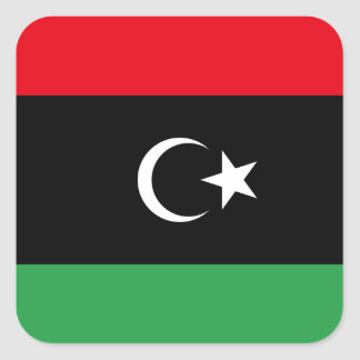 Libya National World Flag Square Sticker
