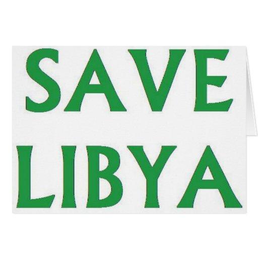 Libya - Save Libya Greeting Card
