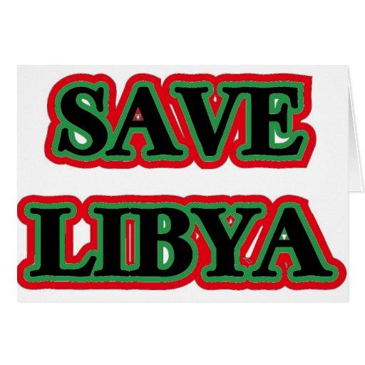 Libya - Save Libya Greeting Cards