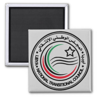 libya transitional council seal square magnet