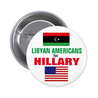 Libyan Americans for Hillary 2016 6 Cm Round Badge