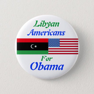 Libyan Americans for Obama 6 Cm Round Badge