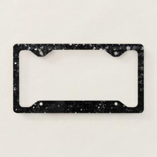 Licence Plate Frame Black Crystal Bling Strass